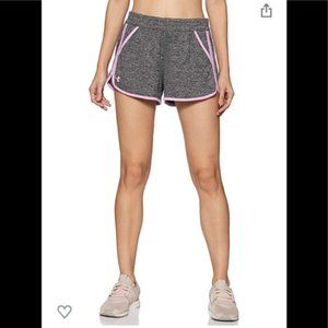 Under Armour Gray & Purple Trim Athletic Shorts